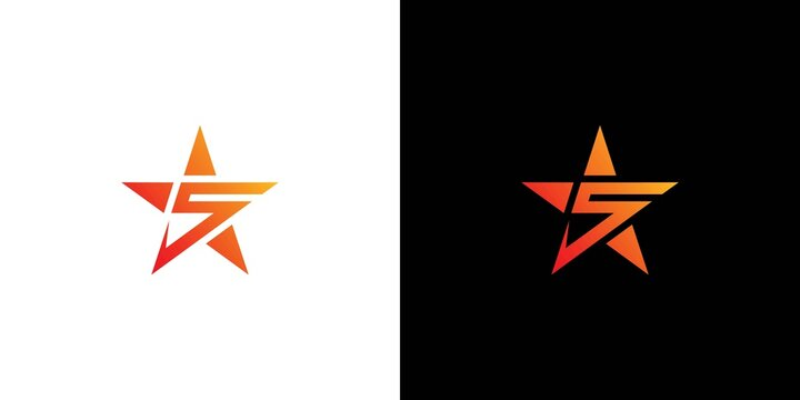 Modern, colorful and attractive 5 star logo 1