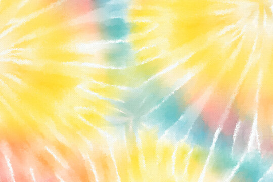 Rainbow tie dye background with pastel swirl watercolor paint