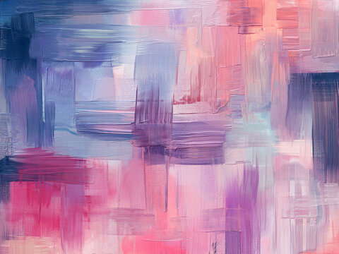 Hand drawn artwork in contemporary style. Modern art made with periwinkle color paint smears and rough brush strokes for large wall tapestry, bed decor.