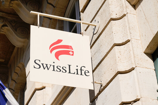 Swiss Life logo brand and text sign of office life insurance company of Switzerland