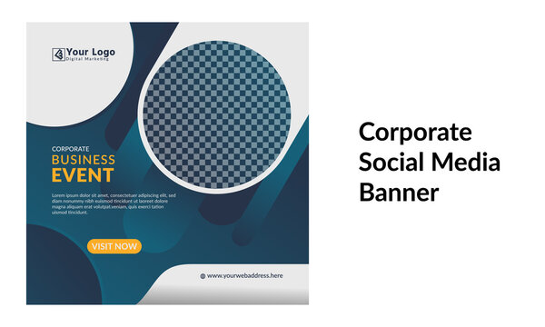 Corporate Social Media Banner Template Design for Company Instagram and Facebook LinkedIn and other websites Promotional Ad