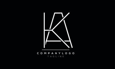 Obraz Abstract Letter Initial KA AK Vector Logo Design Template - fototapety do salonu