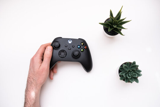 Joystick controller for playing on the new xbox series x console.