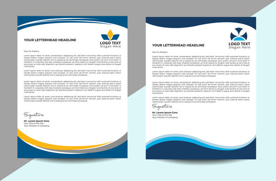 Professional and business letterhead design template