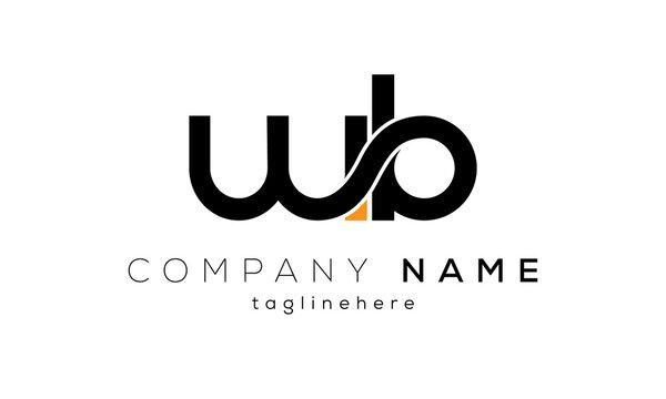 Letter WB creative logo design vector