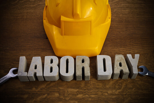 Happy Labor Day banner. 1st May background