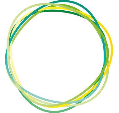 Logo aus grünen Ringen - Natur- und Umweltschutz, Ressourcen nachhaltig nutzen und das Klima schützen, handeln in der Klimakrise