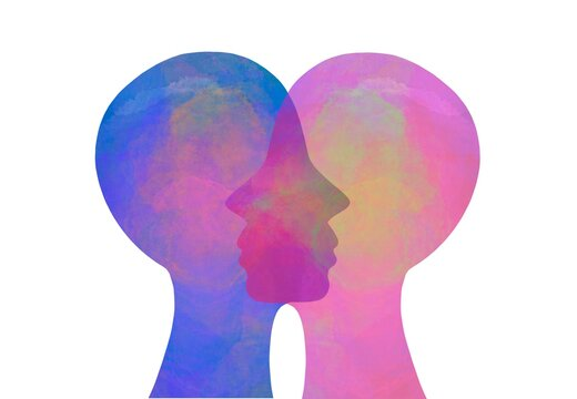 Illustrazione sostegno morale. Psicologia