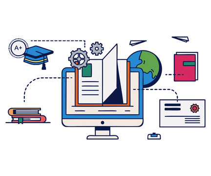 notebook and pen , Learning Educational technology Apprendimento online Course teacher