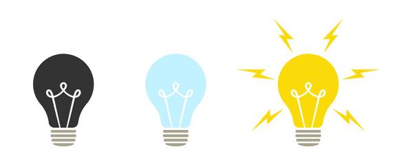 Fototapeta Lamp icons set. Idea lamp icon collection. Flat style - stock vector