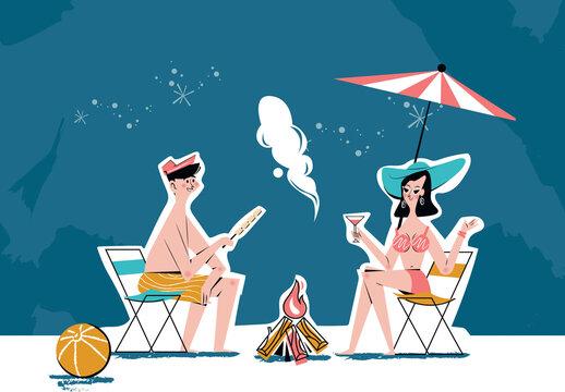 Spring Break Mid Century Design Bonfire Chit-Chat