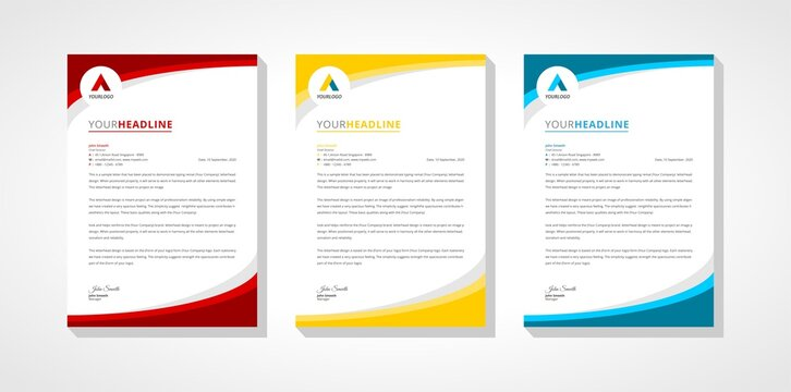 company letterhead and business template collection