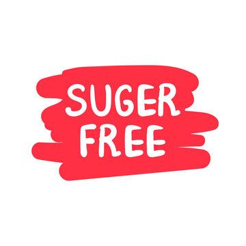 sugar free color vector logo or label