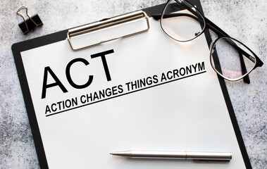 Text sign showing Action Changes Things. Conceptual photo.