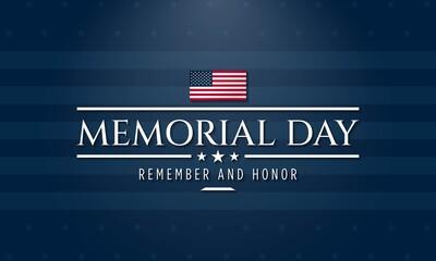Fototapeta Memorial Day Background Design. Vector Illustration.