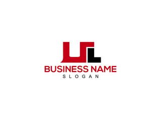 Obraz UL Letter Logo, ul logo image vector for business - fototapety do salonu