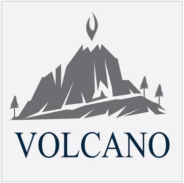 Volcano,mountain icon logo illustration design