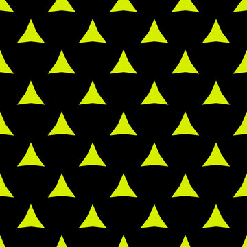Yellow shapes template. The same pattern of vector thorns.