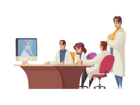 Cartoon Medical Conference