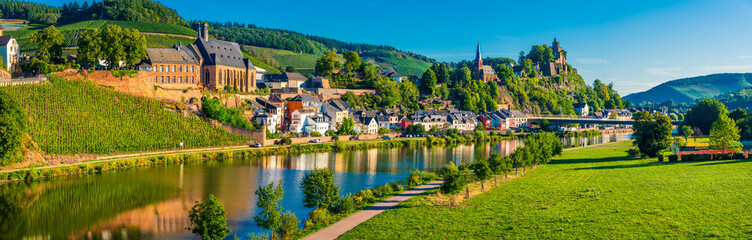 Fototapeta Saarburg village at the Saar river valley, Germany