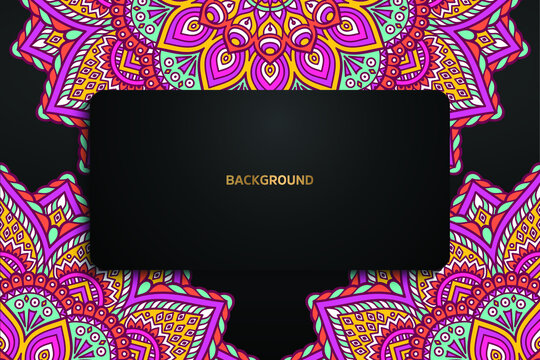 Colorful Mandala Background Template_10