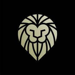 Fototapeta monogram lion king logo. lion king vector logo
