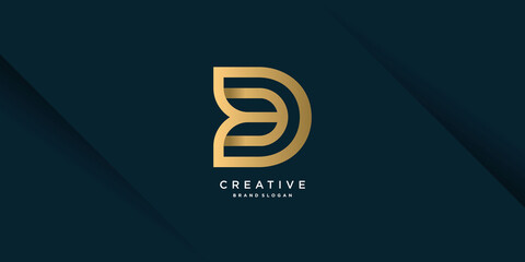 Fototapeta Monogram D logo with creative unique concept for business, company or person part 6 obraz
