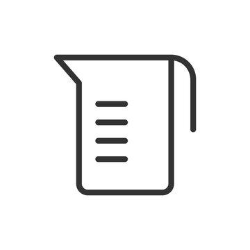 Simple measuring cup line icon.
