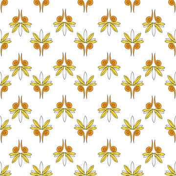 Vector background Brittany celtic, Breton trational folklore symbols seamless pattern. Seamless pattern background