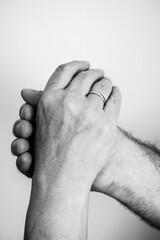 Fototapeta Dłonie dojrzałe. Miłość, rocznica ślubu, wierność. Choroba.