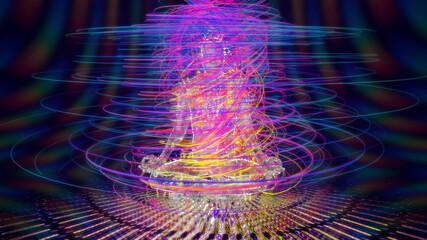 Obraz energy spiral - fototapety do salonu