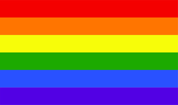 LGBT and LGBTQ pride flag icon and vector graphic symbol heart illustration lesbian and gay homosexuality