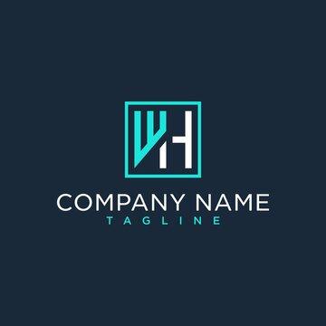 WH,HW,initial logo design inspiration