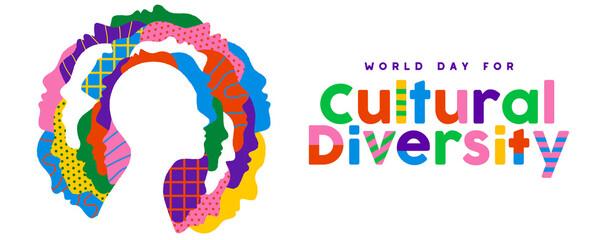 Fototapeta Cultural Diversity day ethnic people face banner obraz