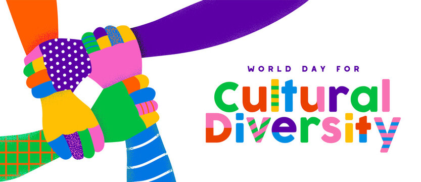 Cultural Diversity Day people team hand together