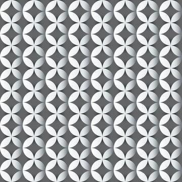 nahtlos Hintergrund, Tapete - weiße Kreise und graue Kreuze