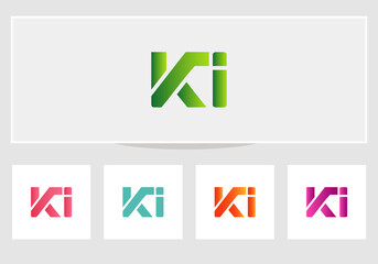 Obraz Initial KI Unique, attractive and creative modern logo. KI letter logo vector. Minimal KI logo design - fototapety do salonu