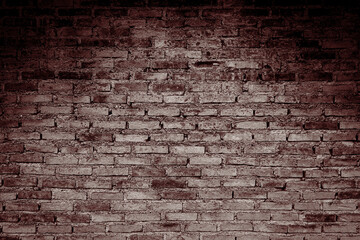 Old brick wall with shadow texture can be use as background