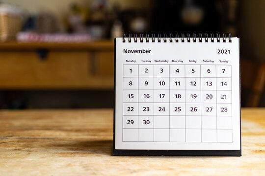 Calendar - November 2021