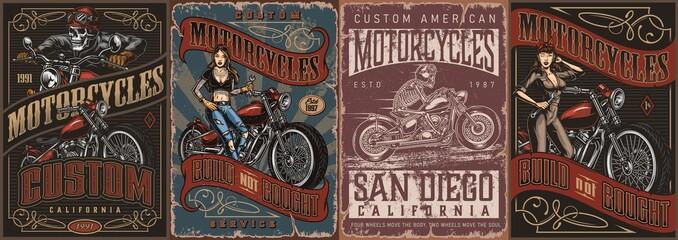 Motorcycle vintage posters
