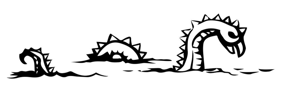 Leviathan. Sea monster. Vector drawing