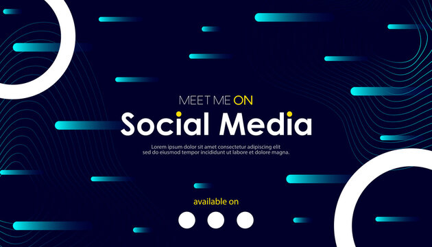 Abstract meet me on social media background. Vector