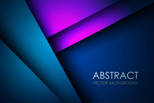 Abstract dark blue purple overlap layers triangle on blank space background Eps10 vector