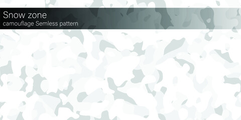 Fototapeta Snow zone camouflage seamless pattern, banner area space for text. Designed texture and modern colorful wallpaper.