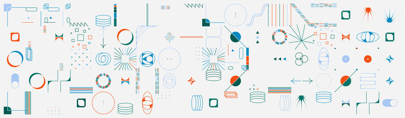 Collection Of Abstract Vector Geometric Shapes