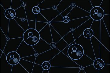 Fototapeta Connected people design. Social network concept