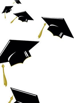 graduate cap vector illustrationgraduation, cap, hat, education, graduate, student, university, diploma, school, college, white, isolated, success, academic, black, achievement, degree, tassel, cerem