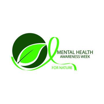 mental health awareness week concept. nature illustration vector