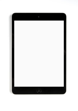 ipad tablet pc blank mockup template, White background, Paris, France