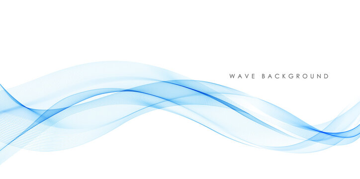 Vector abstract colorful flowing wave lines isolated on white background. Design element for technology, science, modern concept.